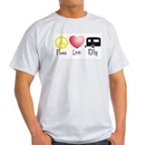 Peace, Love, RVing (travel tr T-Shirt