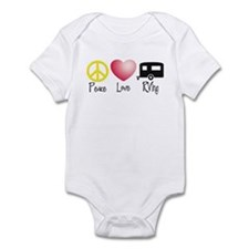 Peace, Love, RVing (travel tr Infant Bodysuit