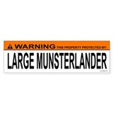 LARGE MUNSTERLANDER Bumper Bumper Sticker