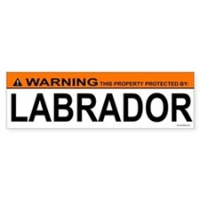 LABRADOR Bumper Car Sticker