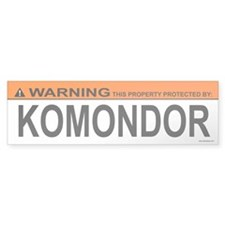 KOMONDOR Bumper Bumper Sticker