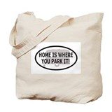 Home Oval Sticker 1 Tote Bag