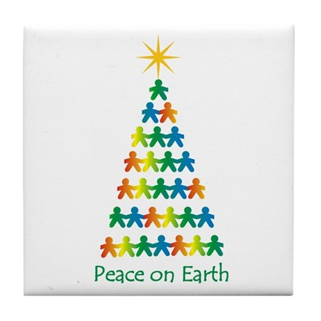 Peace on Earth Tile Coaster