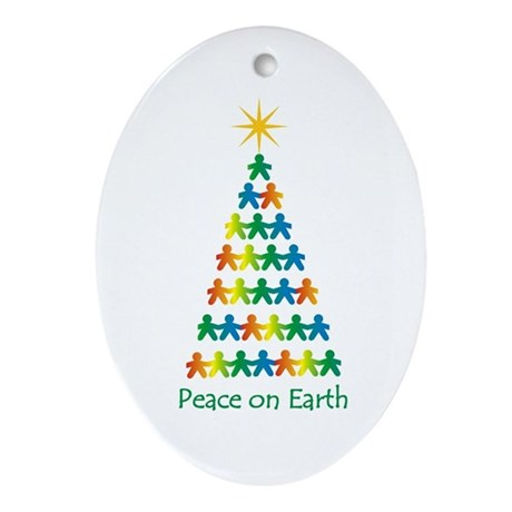 Peace on Earth Oval Ornament