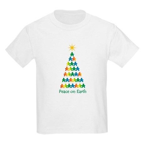 Peace on Earth Kids Light T-Shirt