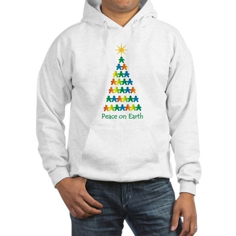 Peace on Earth Hooded Sweatshirt