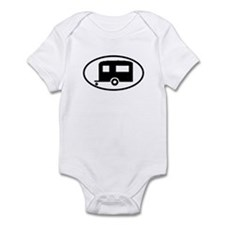 Travel Trailer Oval Sticker Infant Bodysuit