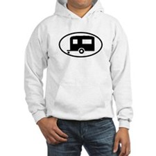 Travel Trailer Oval Sticker Hoodie