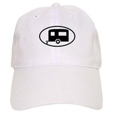 Travel Trailer Oval Sticker Baseball Cap