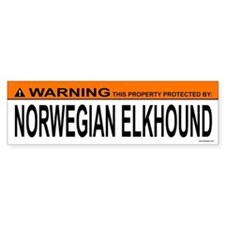NORWEGIAN ELKHOUND Bumper Bumper Sticker