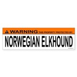 NORWEGIAN ELKHOUND Bumper Car Sticker