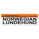 NORWEGIAN LUNDEHUND Bumper Car Sticker