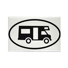 RV Oval Sticker Rectangle Magnet (100 pack)