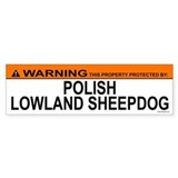 POLISH LOWLAND SHEEPDOG Bumper Bumper Sticker