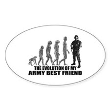 Evolution - My Army Best Friend Oval Decal