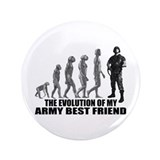 "Evolution - My Army Best Friend 3.5"" Button"