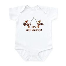 Wishbone It's All Gravy Thanksgiving Infant Bodysu
