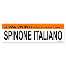 SPINONE ITALIANO Bumper Bumper Sticker