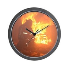 Cute Fireman Wall Clock