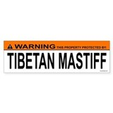 TIBETAN MASTIFF Bumper Car Sticker
