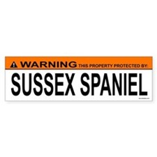 SUSSEX SPANIEL Bumper Bumper Sticker