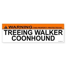 TREEING WALKER COONHOUND Bumper Bumper Sticker