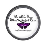 Butterfly Awareness 5 (Lupus) Wall Clock