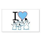 I Love Snowmen Rectangle Bumper Stickers