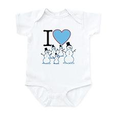 I Love Snowmen Infant Bodysuit
