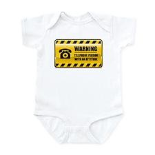 Warning Telephone Person Infant Bodysuit