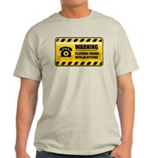 Warning Telephone Person T-Shirt