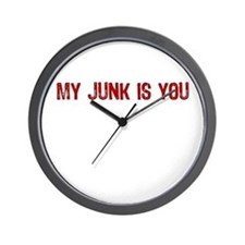 My Junk is You Wall Clock