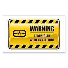 Warning Technician Rectangle Decal