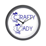 crafty lady Wall Clock