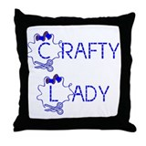 crafty lady Throw Pillow