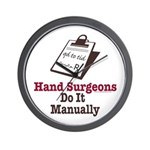 Funny Doctor Hand Surgeon Wall Clock