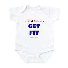 Cute New year resolution Infant Bodysuit