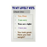 Marriage Humor Rectangle Magnet