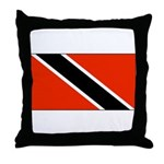 Trinidad Tobago Blank Flag Throw Pillow