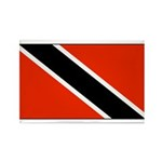 Trinidad Tobago Blank Flag Rectangle Magnet (10 pa