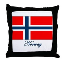 Norway Flag Throw Pillow