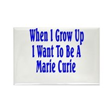 Marie Curie (blue) Rectangle Magnet (10 pack)