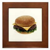 Cheeseburger Love Framed Tile