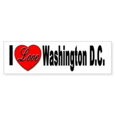 I Love Washington D.C. Bumper Bumper Sticker