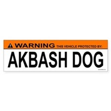 AKBASH DOG Bumper Bumper Sticker