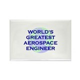 World's Greatest Aerospace En Rectangle Magnet (10