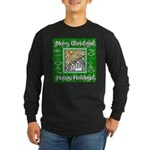 Caroling Angles Long Sleeve Dark T-Shirt