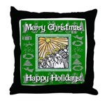 Caroling Angles Throw Pillow
