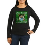 Fairy Christmas Angel Women's Long Sleeve Dark T-S
