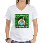 Fairy Christmas Angel Women's V-Neck T-Shirt